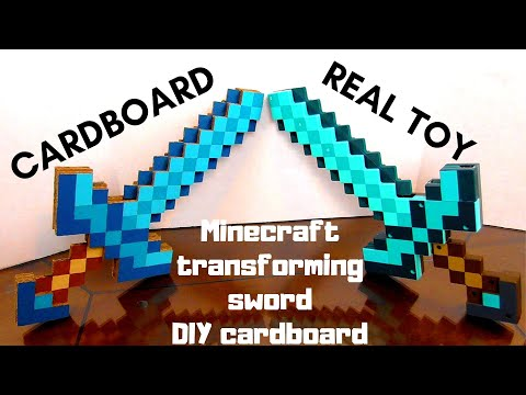 DIY. Minecraft Transforming Sword/pickaxe,how To Make It.