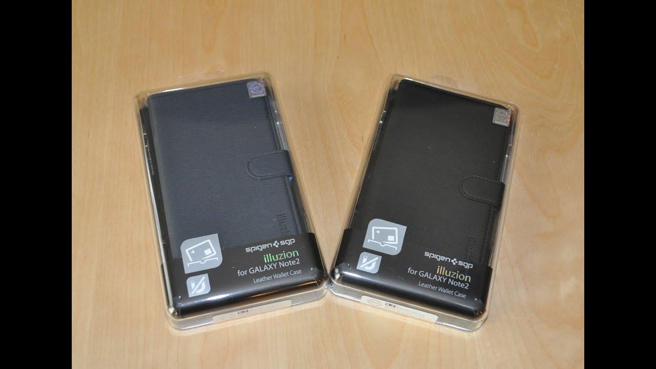 new styles b5fd9 c1eee Spigen SGP illuzion Leather Wallet Case for Samsung Galaxy Note 2