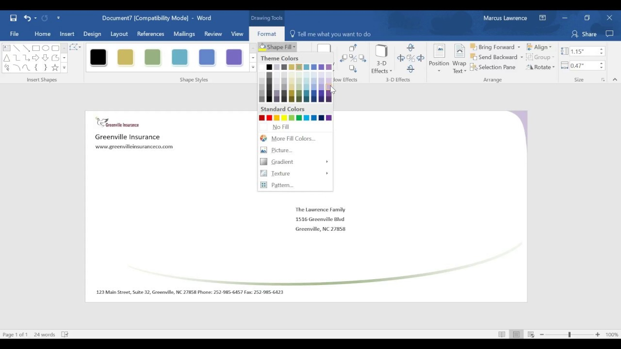 Creating an envelope design in ms word 2016 youtube creating an envelope design in ms word 2016 spiritdancerdesigns Gallery