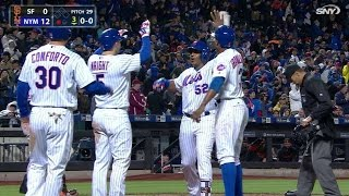 Cespedes launches a grand slam to left