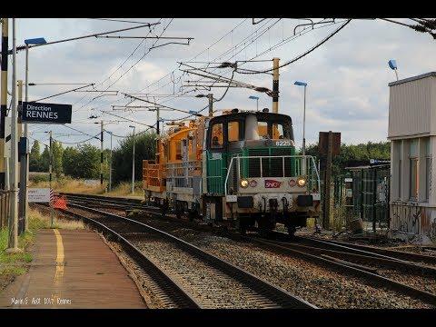 Spot à Rennes : TGV, Fret Naviland, HLP, INFRA, Manœuvre à PSA et Vigirail