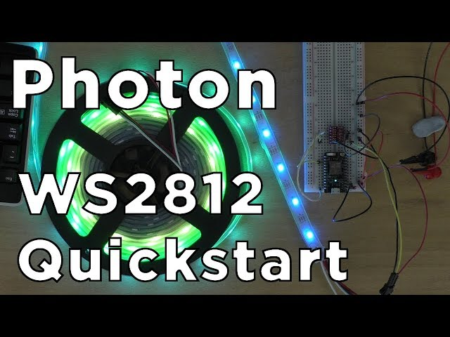 WS2812 / NeoPixel Addressable LEDs: Particle Quickstart