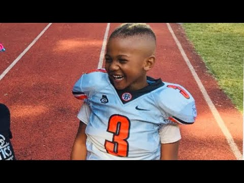 Maurice Pope III at 4yrs old | Lawrence Taylor football camp 2017 | Atlanta youth sports