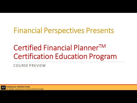 CFP Certification Education Program Preview Webinar 25 March'15