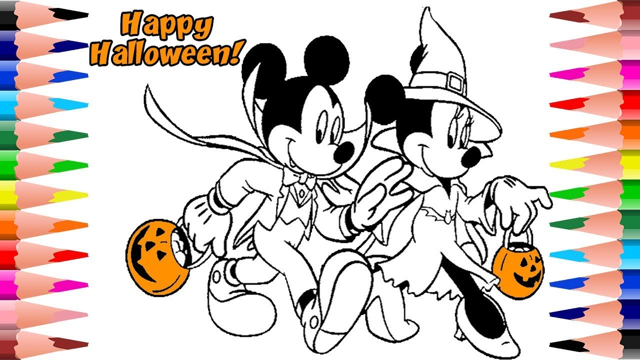 Painting Disney Mickey Mouse Halloween