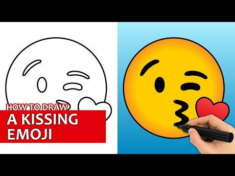 How To Draw A Kissing Emoji | Easy Step By Step Drawing Tutorial