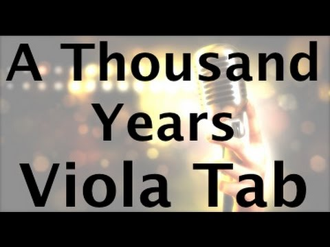 Learn A Thousand Years on Viola  How to Play Tutorial