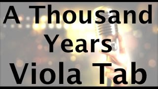 Learn A Thousand Years On Viola - How To Play Tutorial