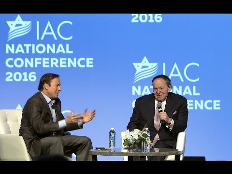 Sheldon Adelson and Adam Milstein FireChat at IAC 2016 Conference