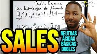 Clases de sales: Sales neutras, sales ácidas, sales básicas y sales dobles
