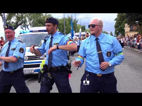 THREE GAY POLICEMEN DANCING IN PRIDE