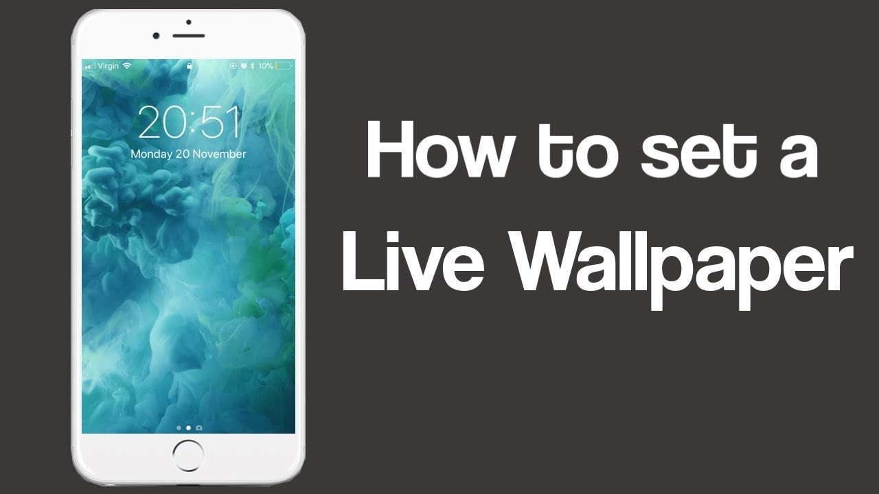 How To Set Live Wallpaper on iPhone Xs, X, 8, 7 and 6s - YouTube