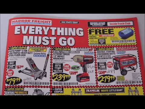 Harbor Freight Coupon Catalog & Tracking HF Prices!