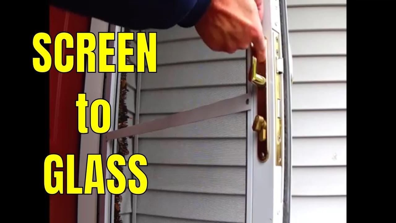 Andersen 4000 Storm Door Switch Screen To Glass Panel