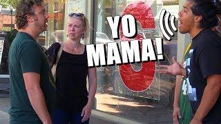 Yo Mama Joke Fights IN PUBLIC!  (Comedy)