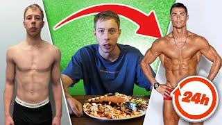 I Ate & Trained Like RONALDO for 24 Hours