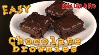 Easy Chocolate Brownies Recipe !