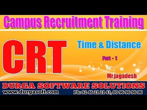 Campus Recruitment Training (CRT) || Time & Distances Part - 1
