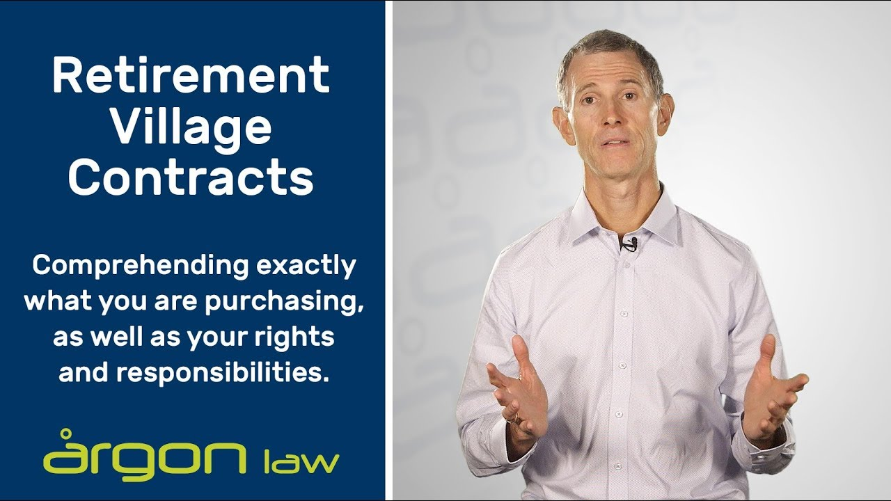 Understanding Retirement Village Contracts | Legal Advice from a Sunshine  Coast Lawyer | Argon Law