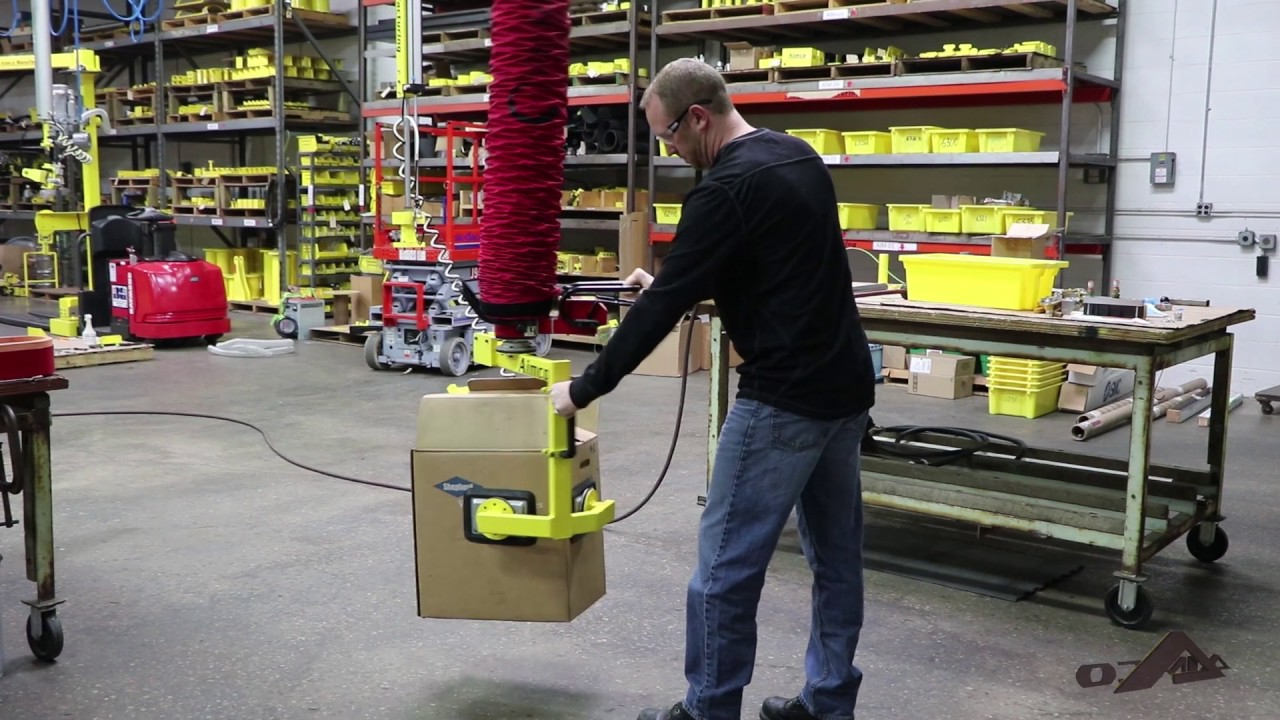 Lifting Boxes For Lift Assists : Aim vacuum tube box lift assist youtube