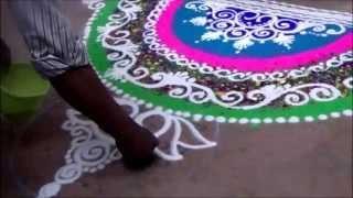 Rangoli for beginners Best rangoli design How to draw rangoli at entrance of house