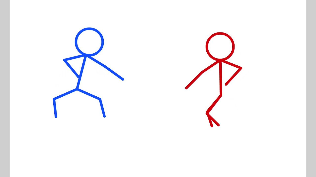 Karate fight stick figure animation
