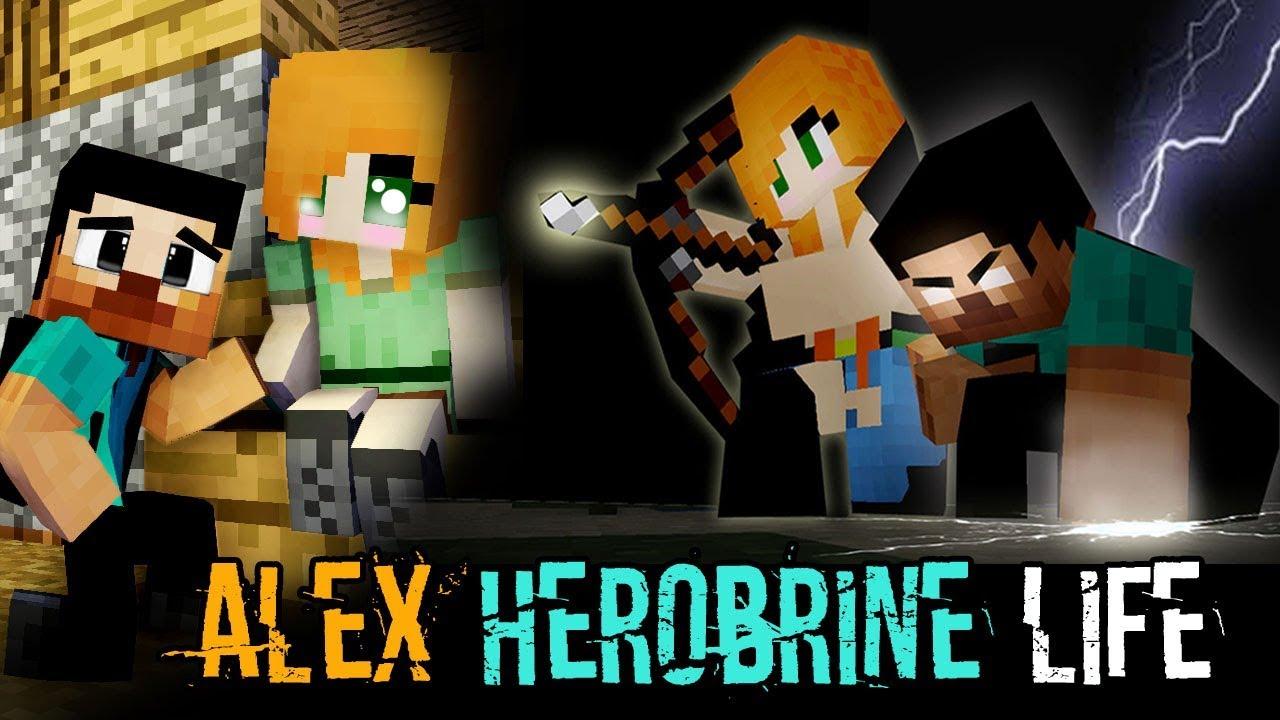 MONSTER SCHOOL : ALEX AND HEROBRINE'S LIFE  - Best Minecraft Animation