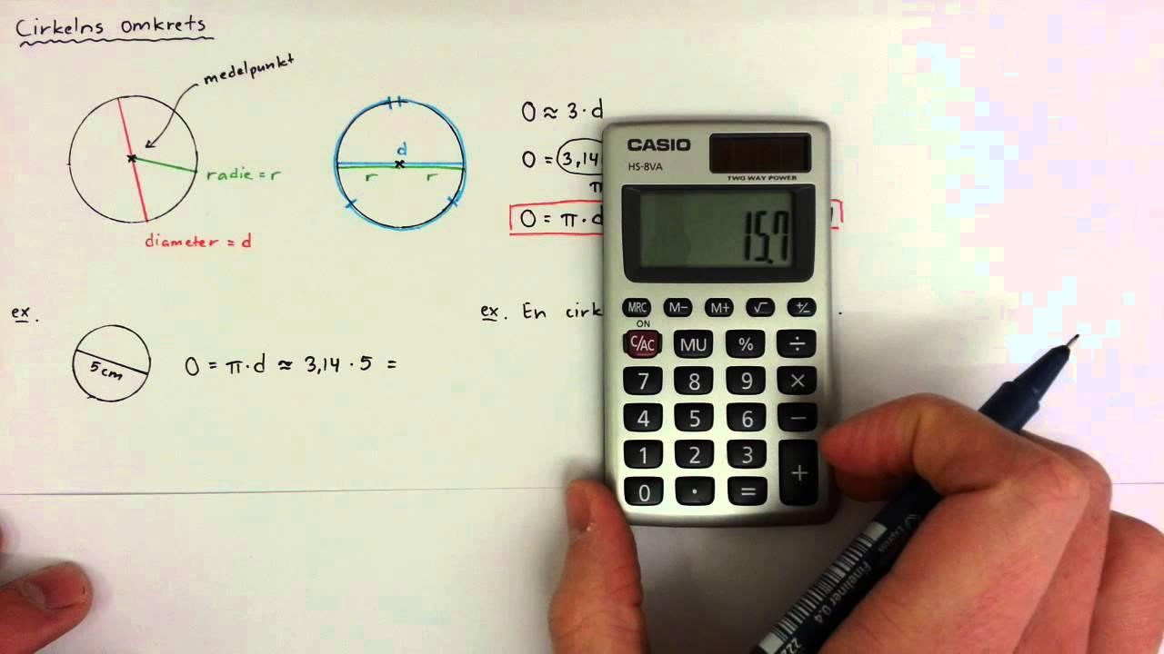 7 - Geometri - Cirkelns omkrets