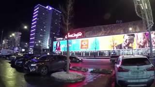 москва. Новый Арбат. Станция метро Арбатская. Прогулка по вечерней улице