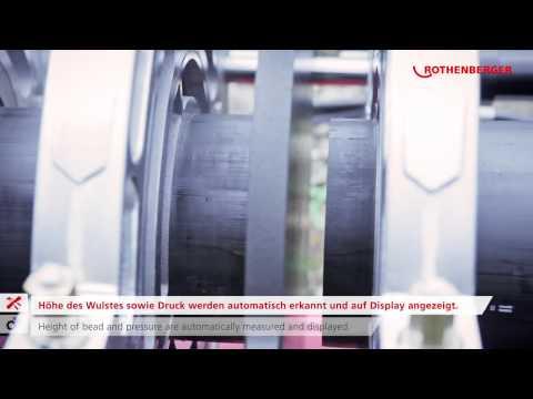 Демонстрация работы машины для стыковой сварки пластиковых труб до 355 мм Roweld P 355 B Premium CNC