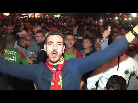 Le Maroc au mondial: liesse au royaume et sur les Champs-Élysées, échauffourées à Bruxelles