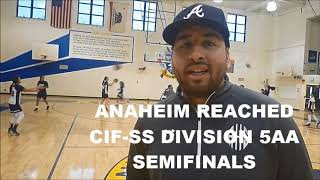'No days off' Anaheim extends journey to CIF state playoffs