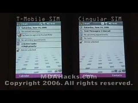 T-Mobile MDA with T-Mo and Cingular SIMs - Part 2 of 3