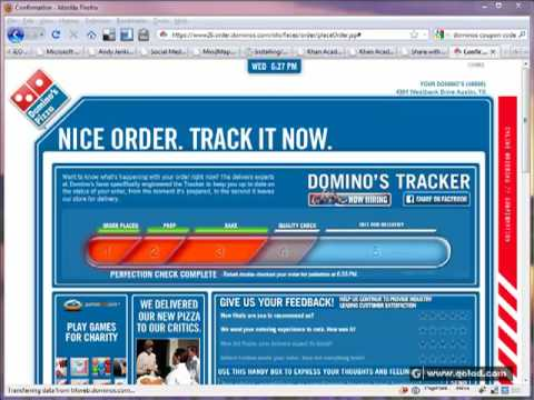 Domino's Pizza Online Ordering System - YouTube