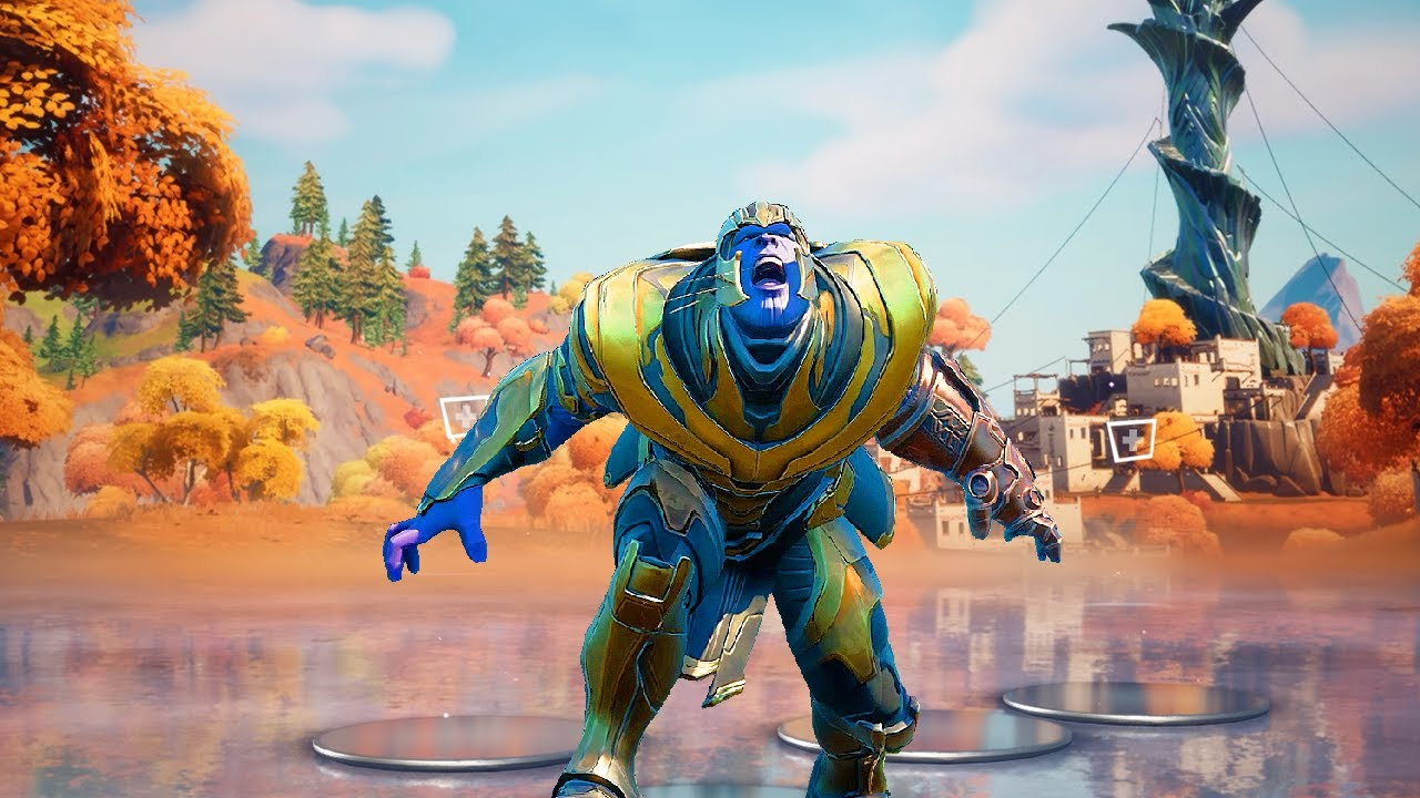 THANOS doing All Built-in Emotes in Fortnite Season 6