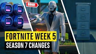 Fortnite | All Season 7 Map Updates and Hidden Secrets! WEEK 4 and 5