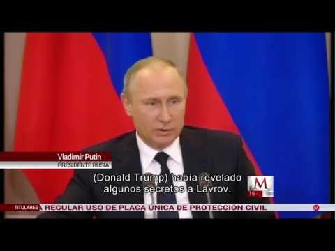 Putin dispuesto a revelar conversación entre Lavrov y Trump