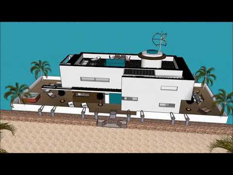 Incredible floating home design architecture in Moscow RUSSIA eco houseboat плавучий домs as a sanct