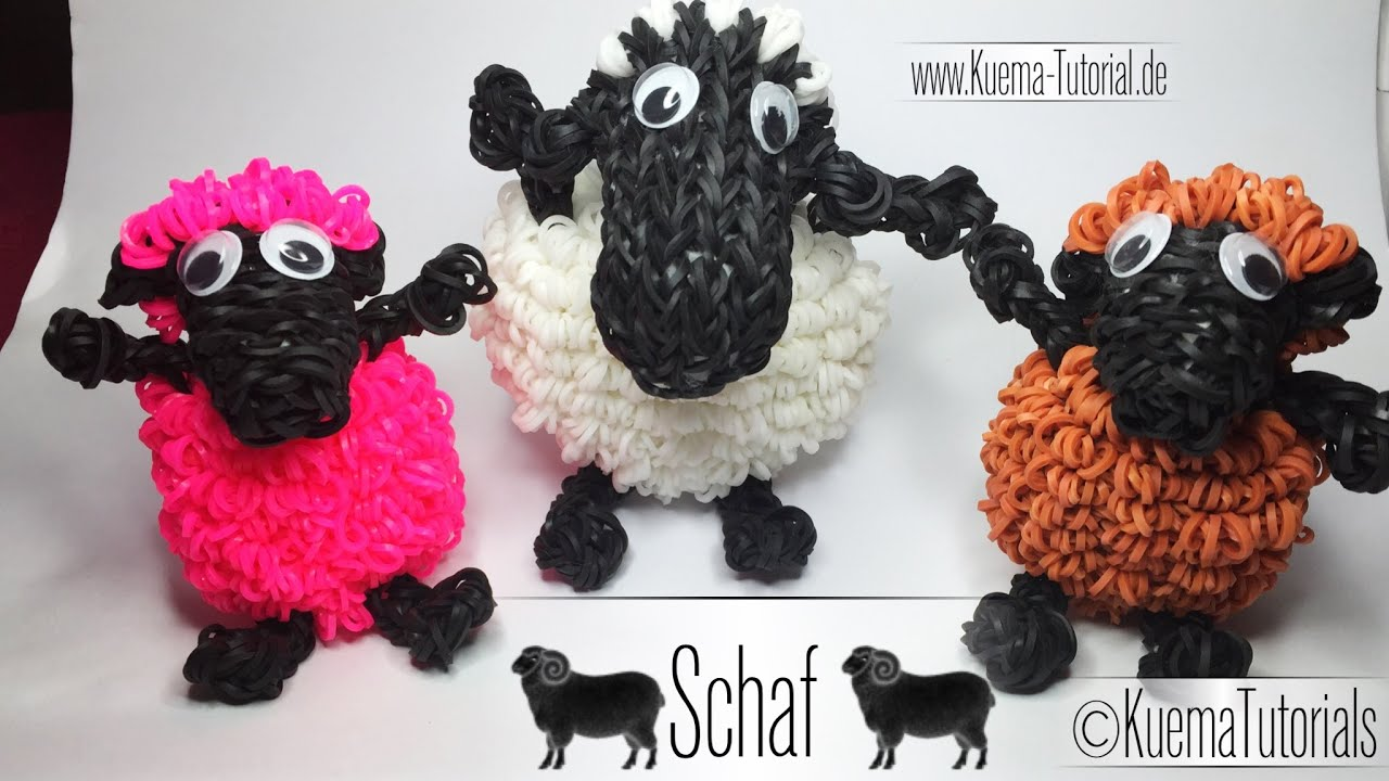 rainbow loom schaf sheep eng sub youtube. Black Bedroom Furniture Sets. Home Design Ideas