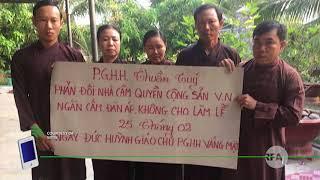 Phản đối việc cấm lễ đản sanh Huỳnh Giáo Chủ   © Official RFA
