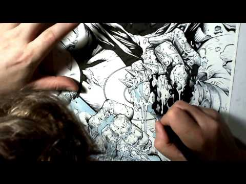 comic book inking
