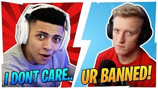 HOW TFUE REACTS TO PEOPLE HAVING TTV IN THEIR NAMES VS HOW MYTH REACTS!