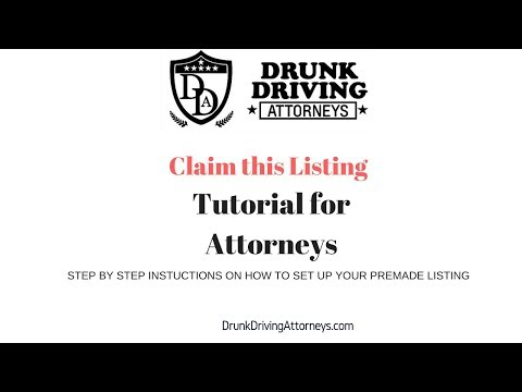 Claim this Listing for Attorneys/Tutorial