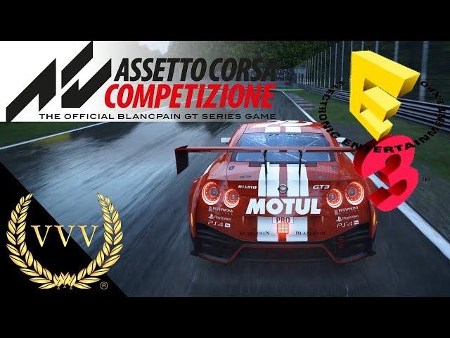 Assetto Corsa Competizione Gameplay - Monza Wet - E3 2018
