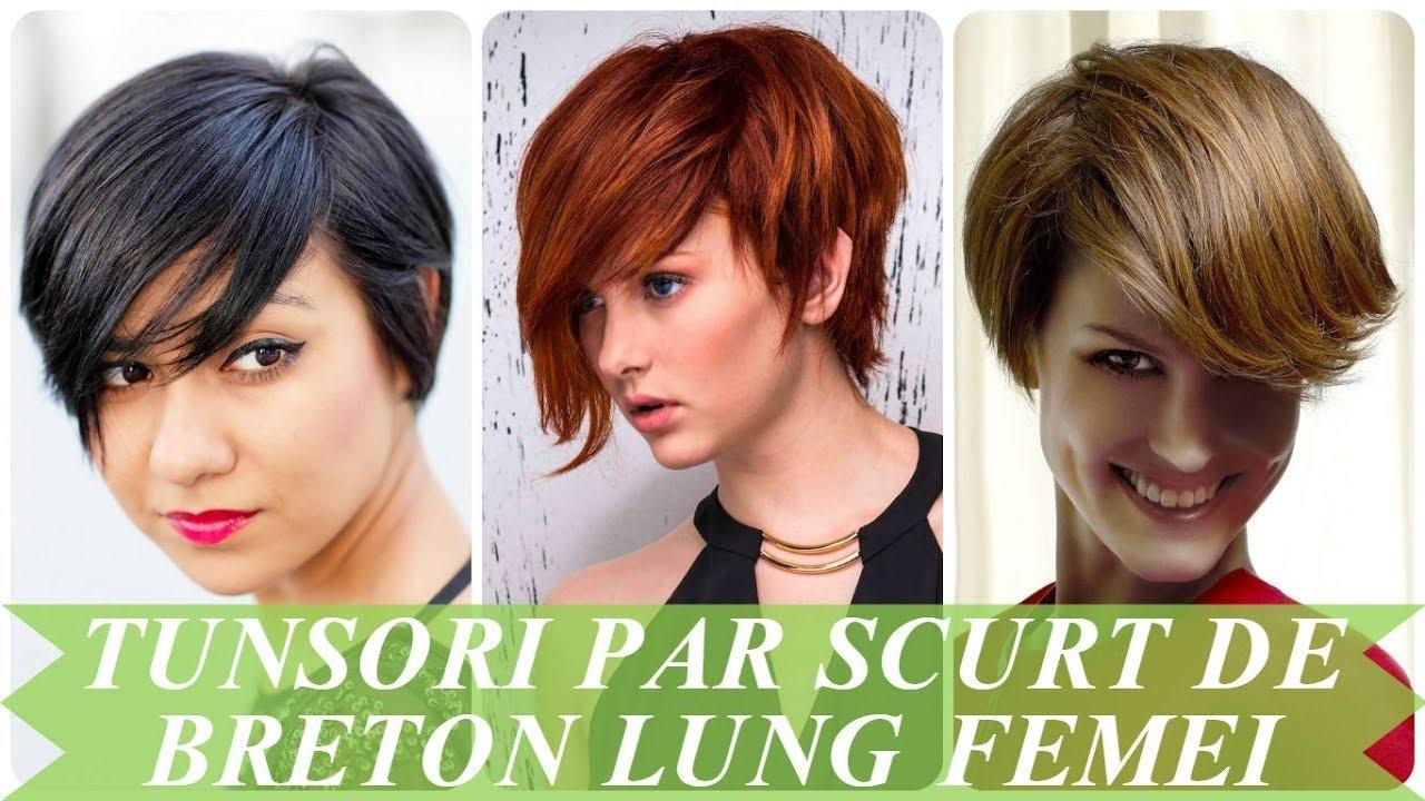 Tunsori Par Scurt De Breton Lung Femei 2018 Youtube