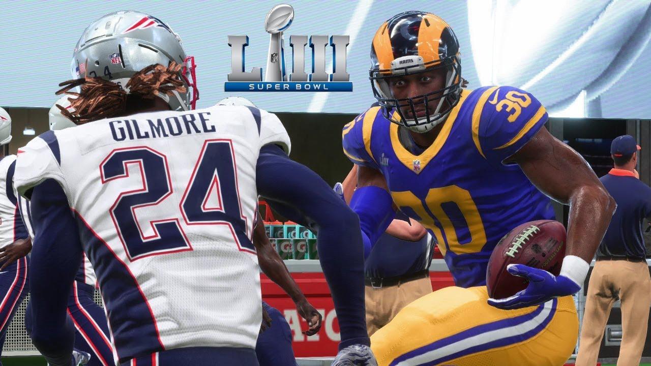 36cfdd97 Super Bowl LIII Sneak Peek - New England Patriots vs Los Angeles Rams |  Madden 19 Preview Gameplay
