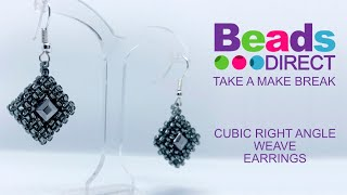 How to make Cubic Right-Angle Weave Earrings - jewellery making