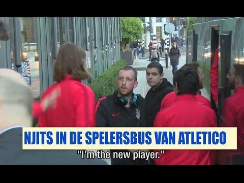Streetlab - Njits in de spelersbus van Atlético