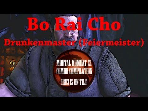 MK XL 🎮 Bo Rai Cho [Drunkenmaster - Feiermeister] - Combo Compilation - 38% up to 53%