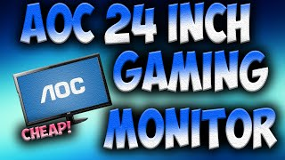 cheap gaming monitor aoc e2429swhe 24 inch gaming monitor unboxing and review ap tech
